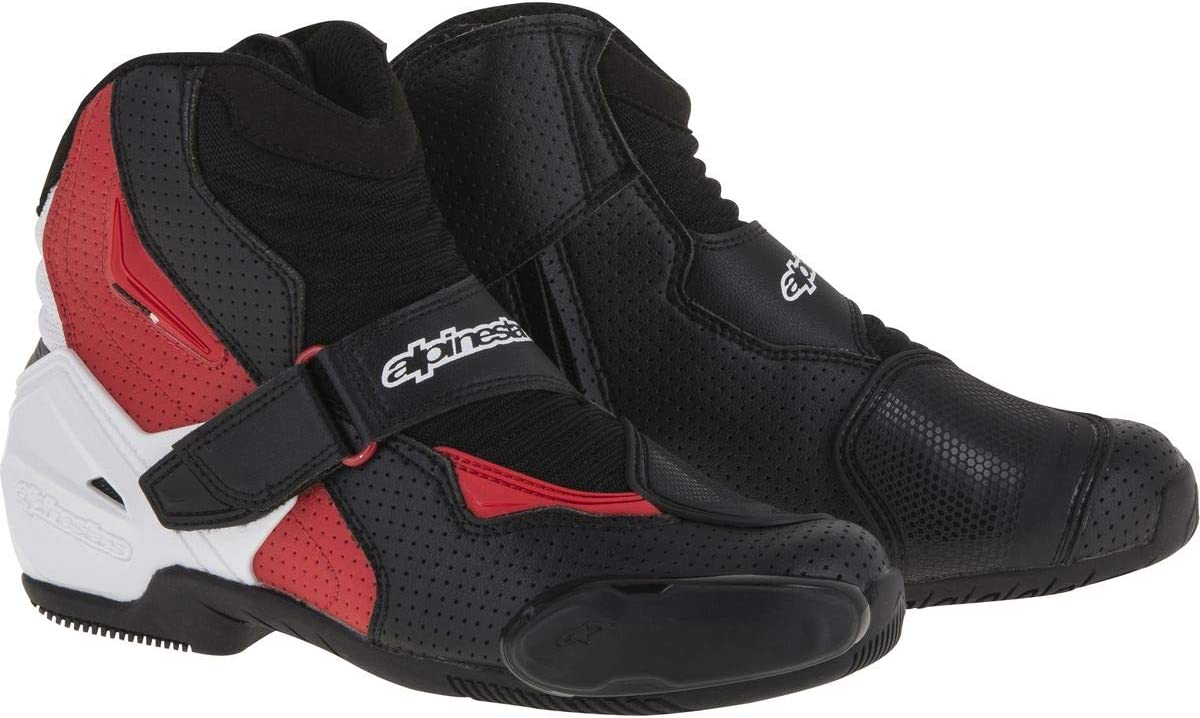 Black//White//Yellow EU 42 ALPINESTARS SMX-1 R Vented Low-Cut Motorcycle Boots
