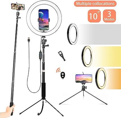 Color : C SUYIDAN Ring Light 12Inch LED Floor Ring Light Microphone Phone Holder Stepless Dimming Fill Light USB Power Supply Selfie Lamp Ringlight