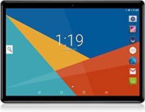 Android 7.0 Nougat Tablet 10 Pulgadas con Ranuras para Tarjetas Dual Sim Quad Core 3G Teléfono Desbloqueado Tablet 4GB RAM 64GB ROM WiFi Incorporado Bluetooth GPS (Negro)