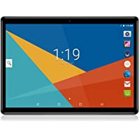 Android Tablet 10 Inch, Android 7.0 Nougat Unlocked Tablet PC, 3G Phablet with Dual SIM Card Slots, Google Certified, 4G+64GB, Dual Camera, WiFi, Bluetooth, GPS ,Netflix (Black)