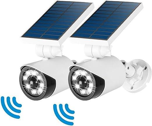 Luz de sensor de movimiento solar para exteriores, 800 lúmenes 8 ...