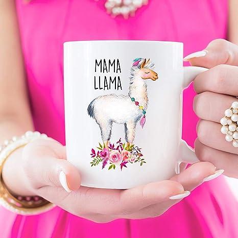 Amazon.com: Mama Llama, taza de Llama, regalo para el día de ...