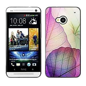 Caucho caso de Shell duro de la cubierta de accesorios de protección BY RAYDREAMMM - HTC One M7 - Purple Pink Fall Autumn Easter
