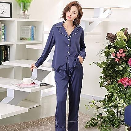 WXIN /Pijama Manga Larga Mujer /Pijamas De Seda Seda Hielo /Mujeres /Home