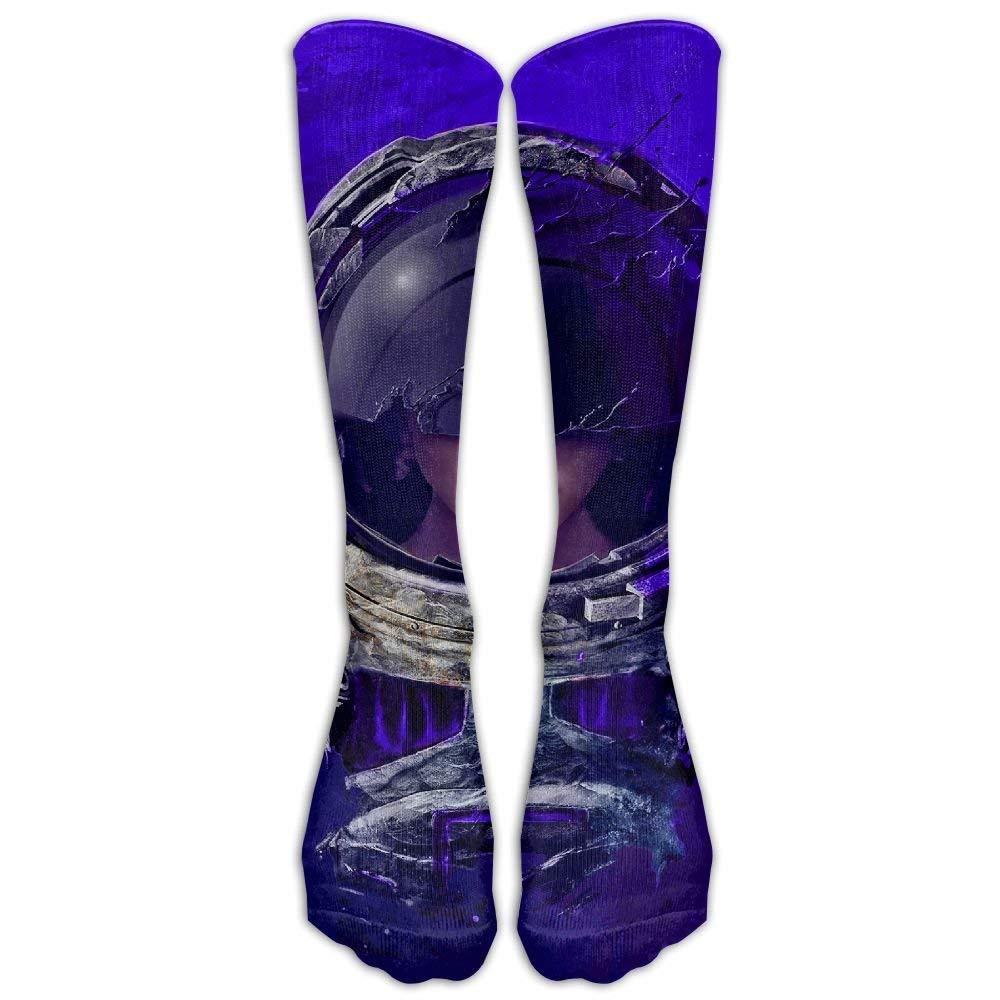 FUNINDIY Astronaut Manipulation Athletic Tube Socks Women Men High Socks Crazy Socks