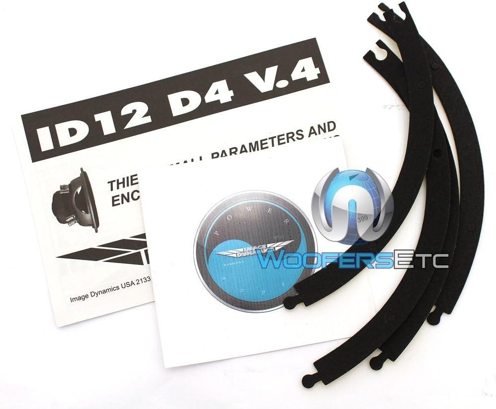 Image Dynamics 10 300W RMS Dual 4-Ohm V.4 Subwoofer ID12 V.4 D4