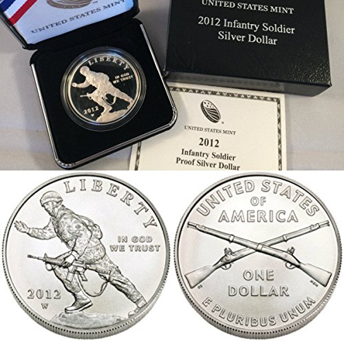 2012 2012 W $1 Infantry Soldier Silver Proof Dollar Co coin Good