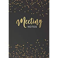 Meeting Notes: Black Cover | Business Notebook for Meetings and Organizer | Taking Minutes Record Log Book Action Items…