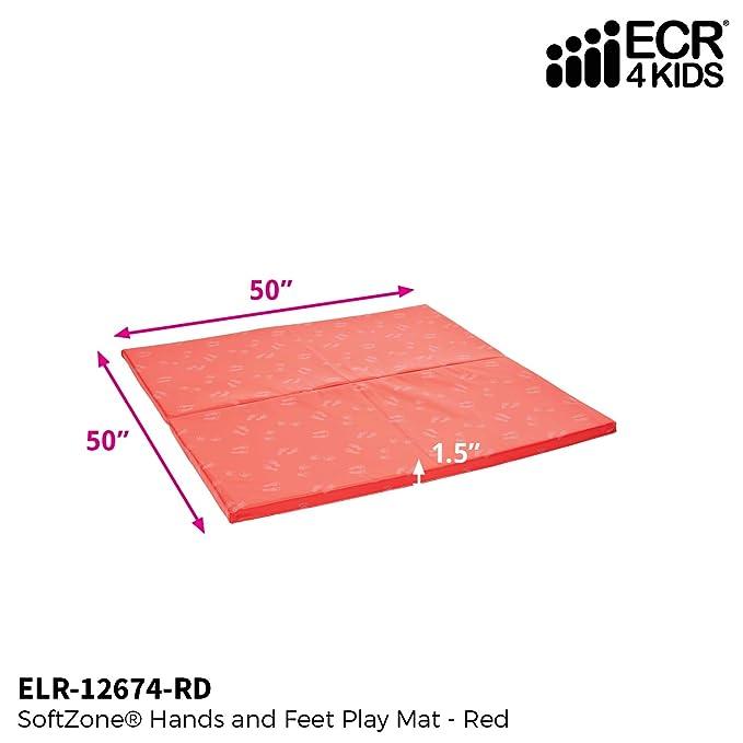 ECR4Kids softzone Manos y pies Alfombra de Juegos 2-Fold Estilo.