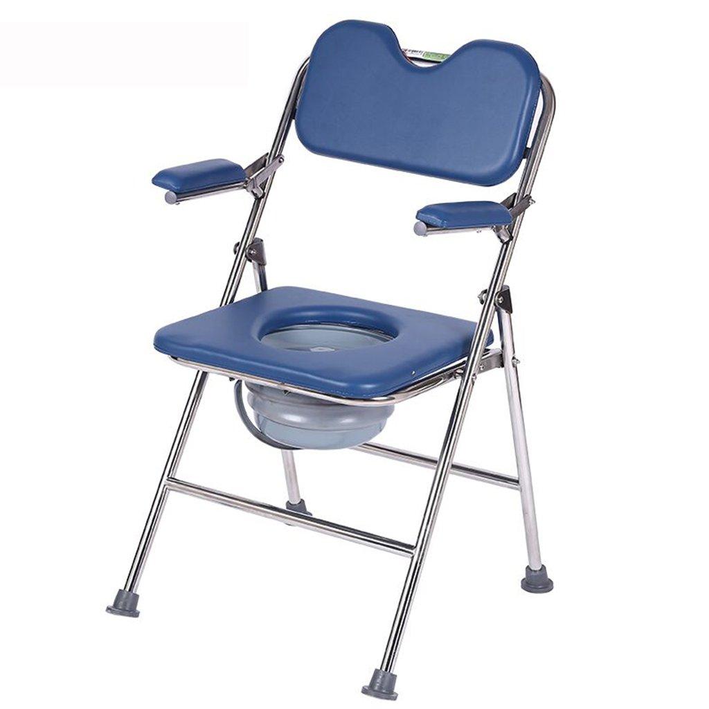 家庭用ステンレス鋼折り畳み式トイレ椅子高齢者ノンスリップ調節可能なバスチェア妊娠中の女性トイレスツール B07CM8WVL1