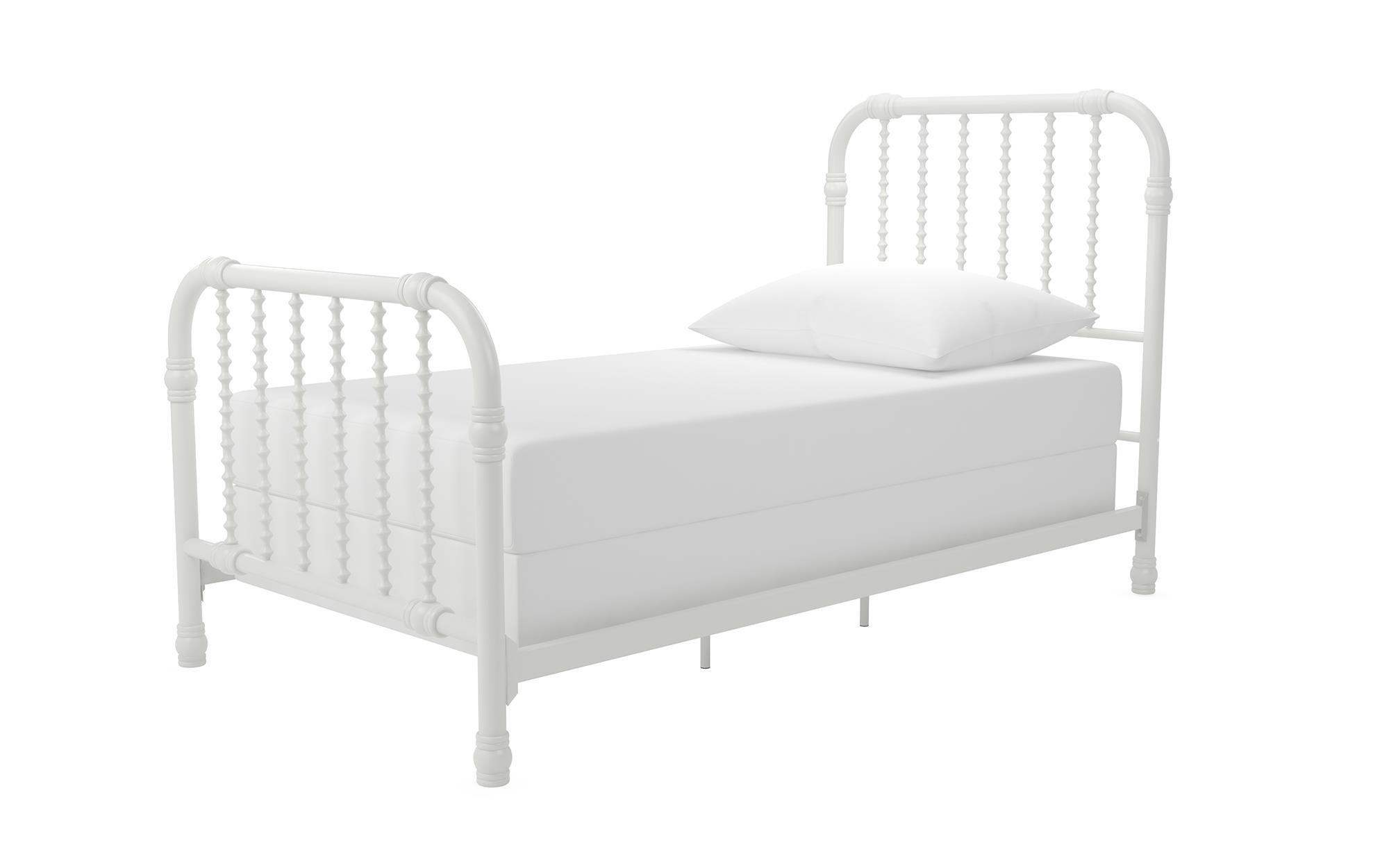 Little Seeds Monarch Hill Wren Metal Bed Twin, White by Little Seeds