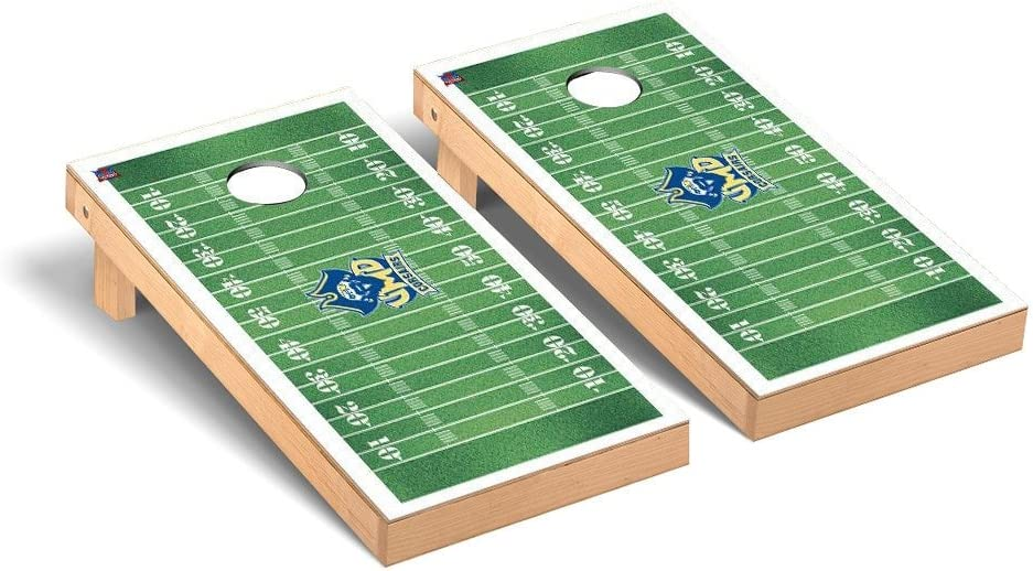 マサチューセッツ州Dartmouth UMass Corsairs Cornhole Game Setフットボールフィールドバージョン