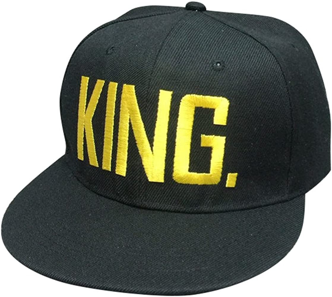 NiSeng Gorras para Parejas Queen Y King Snapback Hat Gorras De ...