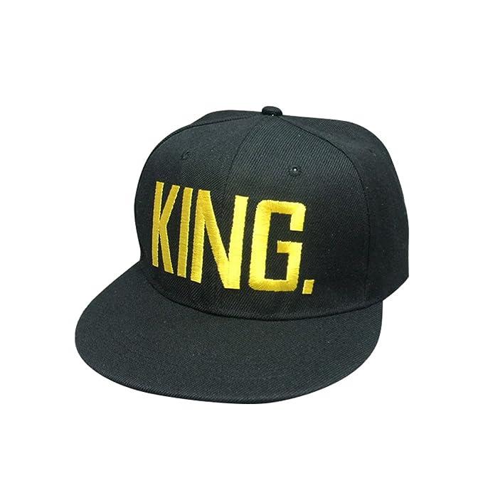 NiSeng Gorras Para Parejas Queen Y King Snapback Hat Gorras De Béisbol: Amazon.es: Ropa y accesorios