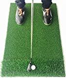 StrikeDown Dual-Turf PRO Golf Hitting Mat | Fairway/Rough Grass, Shockpad, Practice Indoors/Outdoors (36in x 24in)