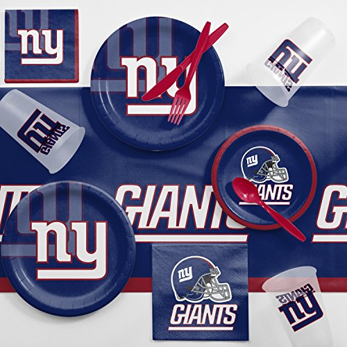 - Creative Converting New York Giants Game Day Party Supplies Kit, Serves 8