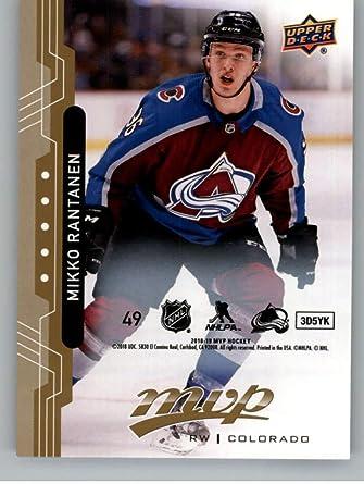 2018-19 UD MVP 20th Anniversary Silver Script Tribute #49 Mikko Rantanen Colorado Avalanche Upper Deck 18-19 Hockey Card