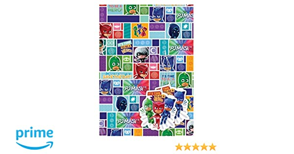 Amazon.com: PJ Masks 2 Sheets Of Gift Wrap And 2 Gift Tags: Health & Personal Care