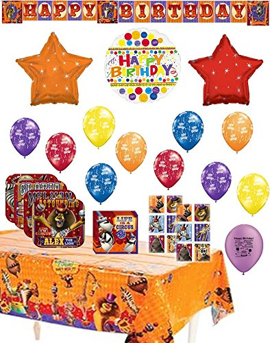 Madagascar 3 Party Supply and Balloon Bundle