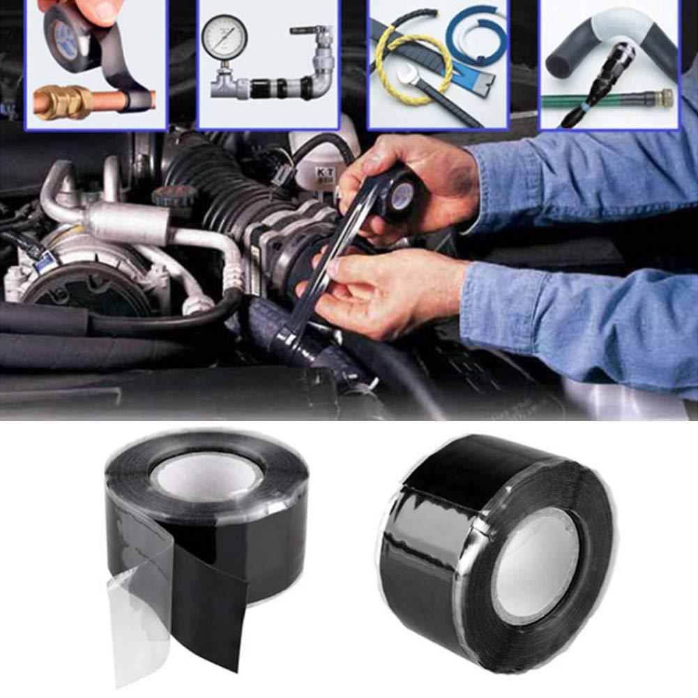 3M Noir XKBESTGO Ruban auto-adh/ésif imperm/éable /à haute pression de bande de r/éparation de canalisation deau de bande auto-adh/ésive pour le jardin 25MM