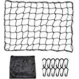 ValueHall Cargo Net 3 x 4 feet Heavy Duty Truck Bed Net Trailer Cargo Net Truck Bed with 12pcs Aluminum Hooks 4 x4…