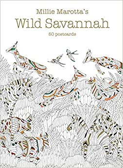 Millie Marottas Wild Savannah Postcard Box 50 Postcards A Marotta Adult Coloring Book
