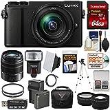 Panasonic Lumix DC-GX9 4K Wi-Fi Digital Camera & 12-60mm (Black) + 45-150mm Lens + 64GB Card + Battery + Case + Tripod + Flash + Tele/Wide Lens Kit