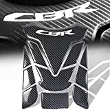 07 crf250r dual exhaust system - Real Carbon Fiber 3D 11PC Customize Fuel/Gas Tank Pad Decal/Logo Sticker for CBR