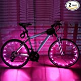 Kyпить Soondar 2pcs/set Cool LED Spoke Wire Tyre Bright Flash Lights Spoke Rim Light - Pink на Amazon.com