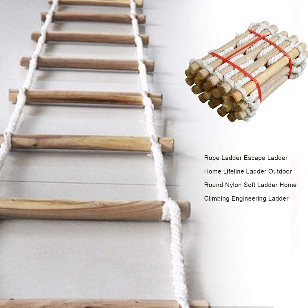 Reusable Safety Rope Ladder With Buckle thelastplanet 3//5M Emergency Fire Escape Ladder Compact /& Easy To Store Fast To Deploy /& Easy To Use