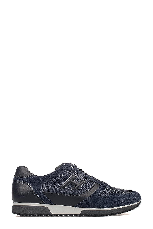 Hogan メンズ HXM1980T821EIX3694 ブルー 革 運動靴 B07DLR38YQ