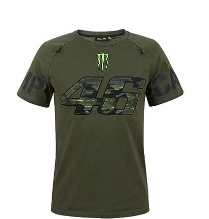 Valentino Rossi VR46 Moto GP Monster Camp Edition Verde Camiseta Oficial 2018