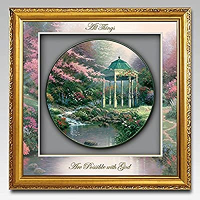 The Bradford Exchange Thomas Kinkade Visions Of Hope Tranquility Shadowbox Plate Collection
