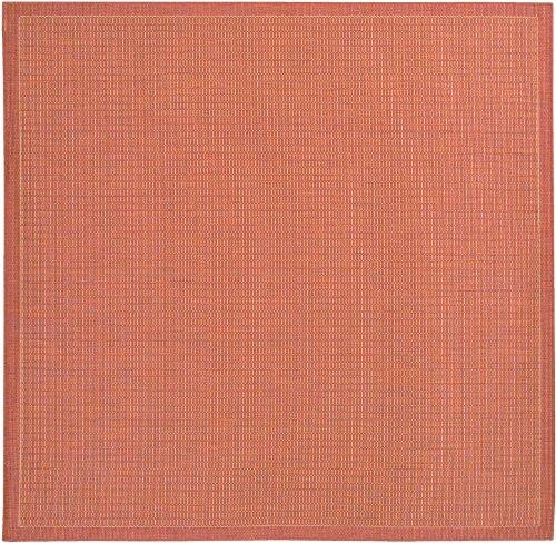 Couristan 1001/4000 Recife Saddle Stitch Terra Cotta/Natural Rug, 7-Feet 6-Inch Square ()