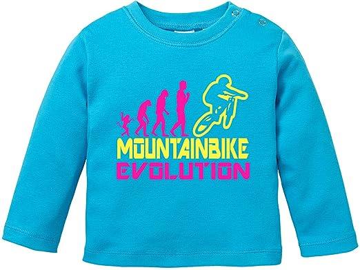 EZYshirt® Mountainbike Evolution Baby T-Shirt Longsleeve