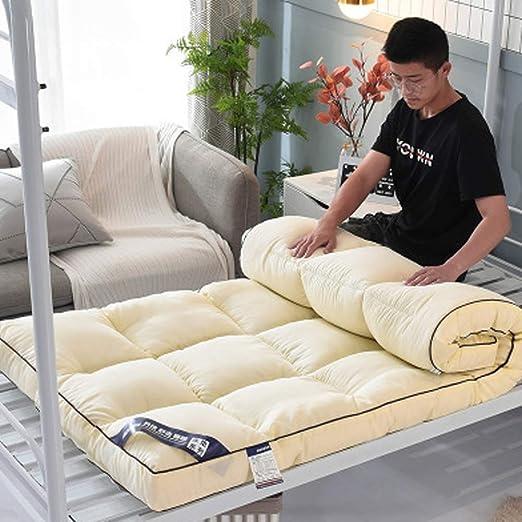 Futón colchón Topper, algodón Tatami Floor Mat Antideslizante ...