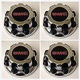 Replacement G008 Gosweet 4X Four Pieces Truck Van Wheel Caps GMC Sierra Savanna Yukon 2500 3500 Silver 8-Lug Wheel Center Hub Caps 15006332 US Fast Shipment
