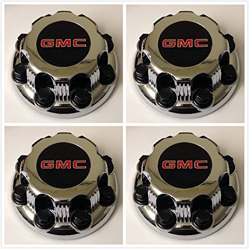 Wheels Truck Gmc - Replacement G008 Gosweet 4X Four Pieces TRUCK VAN Wheel Caps For GMC Sierra Savanna Yukon 2500 3500 Silver 8-lug Wheel Center Hub Caps 15006332 US Fast Shipment