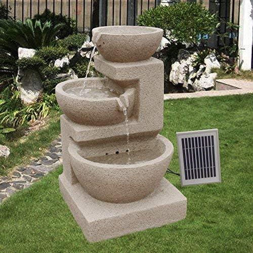 Arnusa – Fuente solar Brunnen Eden Jardín Brunnen cascada Juego completo para jardín y terraza Día y Noche. ✓ nuevo: Amazon.es: Jardín