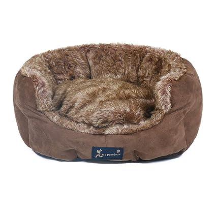 Cama Lavable para Mascotas Felpa Suave Deluxe cómoda Cama para Perros Cat Waterloo extraíble cojín 45