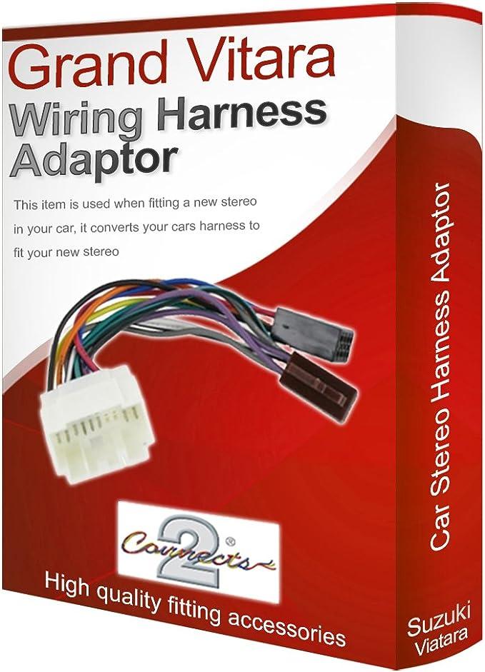suzuki grand vitara radio stereo wiring harness adapter lead loom iso  converter: amazon.de: auto  amazon.de