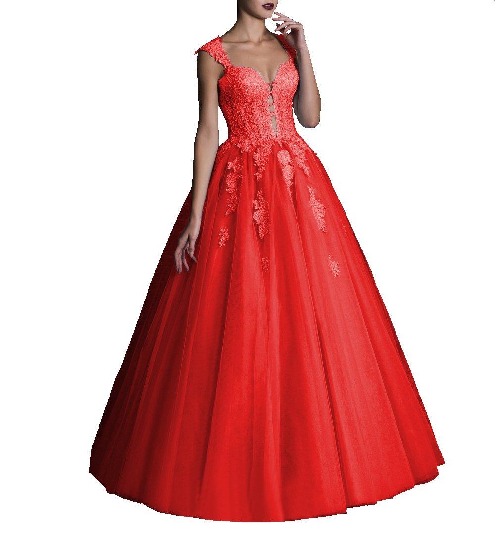 d007f9a50d6 Home Brands DarlingU DarlingU Women s Sweetheart Quinceanera Dresses Prom  Keyhole Appliques Formal Evening Gown Red 2.   