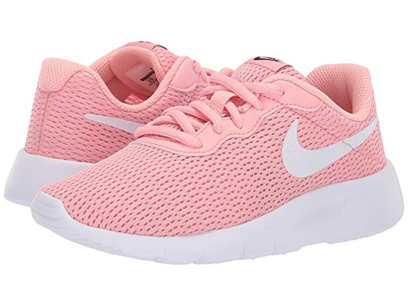 Nike Kids Tanjun (PS) Bleached Coral White Black Size 1