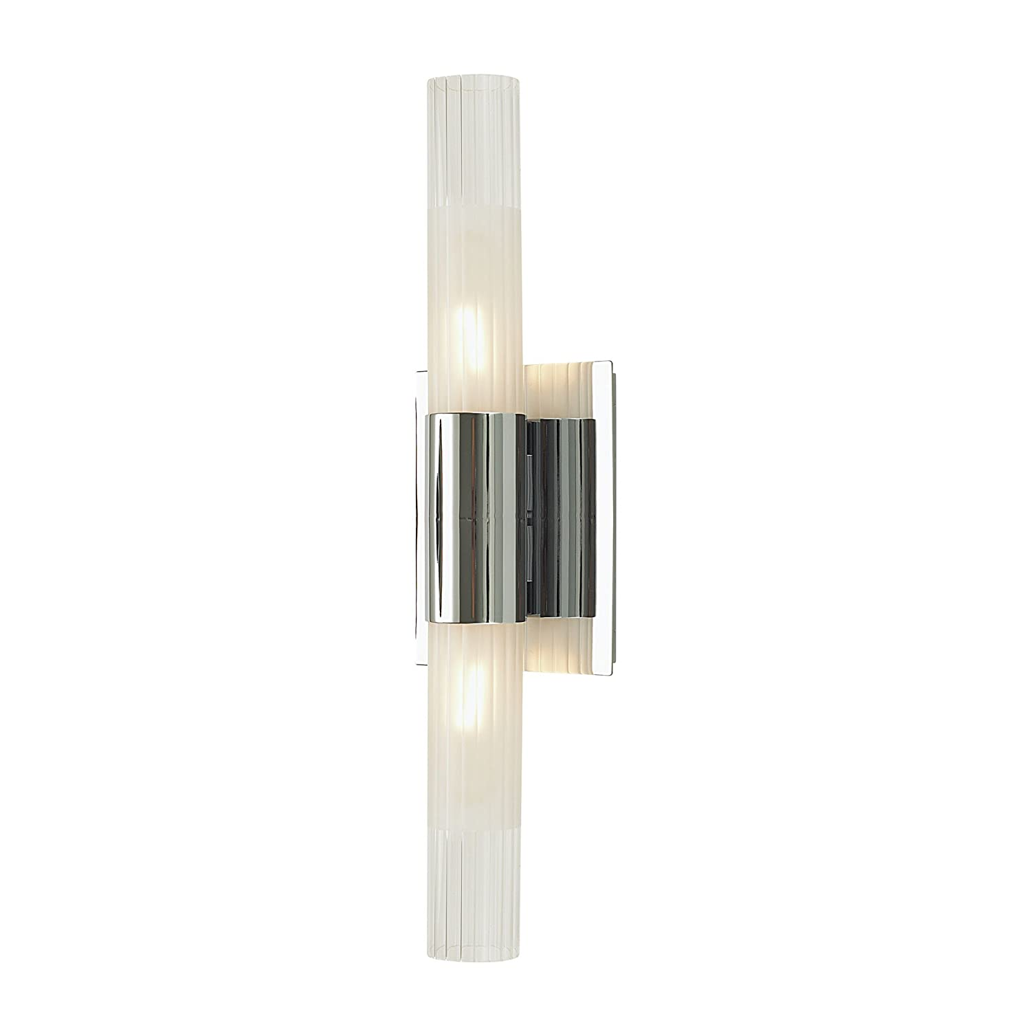 Lightning Bolt Collection Regato Duo 2 Light Sconce In Chrome With Clear  And Frosted Glass     Amazon.com