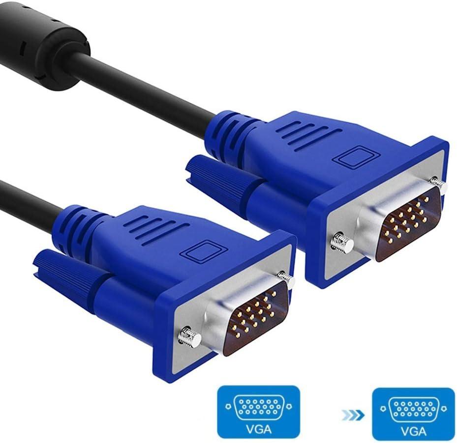 Cable VGA, cable de monitor, 1080P HD, compatible con proyectores, televisores de alta definición, pantallas, circuito cerrado de televisión, computadora portátil, cable de extensión for monitor de co: Amazon.es: Hogar