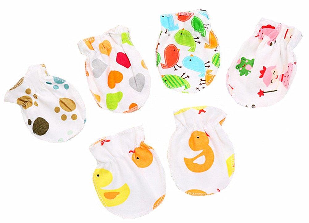 Faxkly unisex-baby summer& autumn safety mittens, newborn mittens (pattern random)