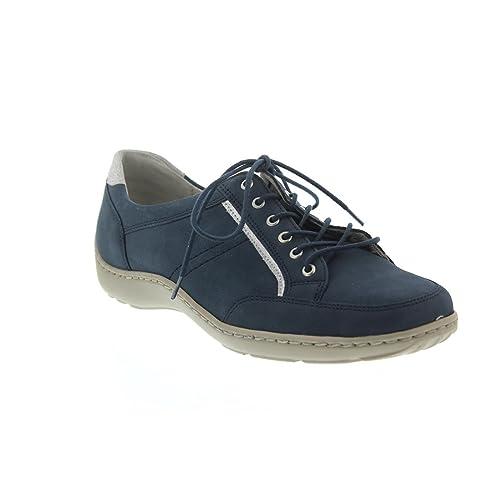 Waldläufer Henni 496013, Derby Femme - - Jeans Silber, 3