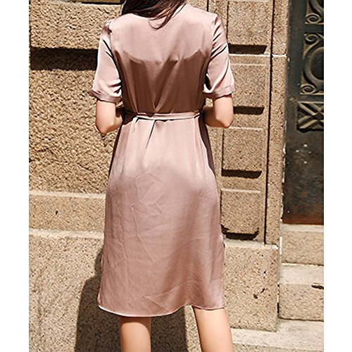 Kleider Seide Kleid Damen Rosa Übergröße Long Cocktail Abendkleid E S9971 Gestreift girl Knee qzqO8v1