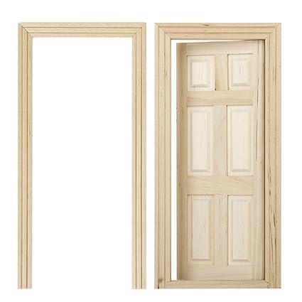 Dollhouse Miniature Interior 6 Panel Door