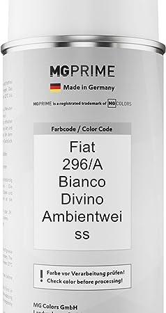 Mg Prime Autolack Sprühdosen Set Für Fiat 296 A Bianco Divino Ambientweiss Basislack Klarlack Spraydose 400ml Auto